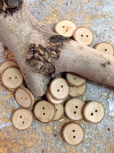 Botones de Madera de Olivo